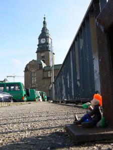 Punker vor Hauptbahnhof